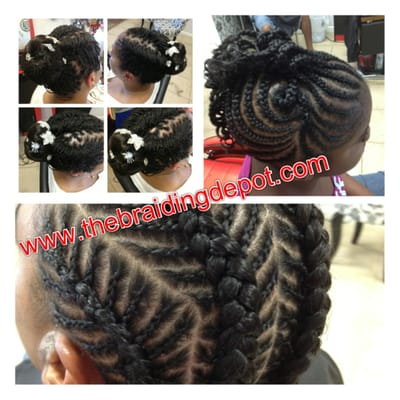Kids braids done within an hour at braids by bee yelp for Benite home depot