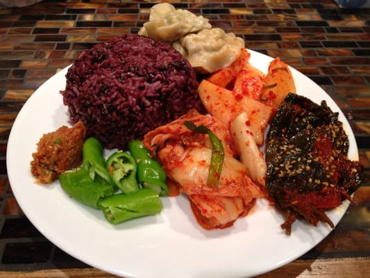 Purple Grain Rice, Daikon and Cabbage Kimchi, Pickled ...