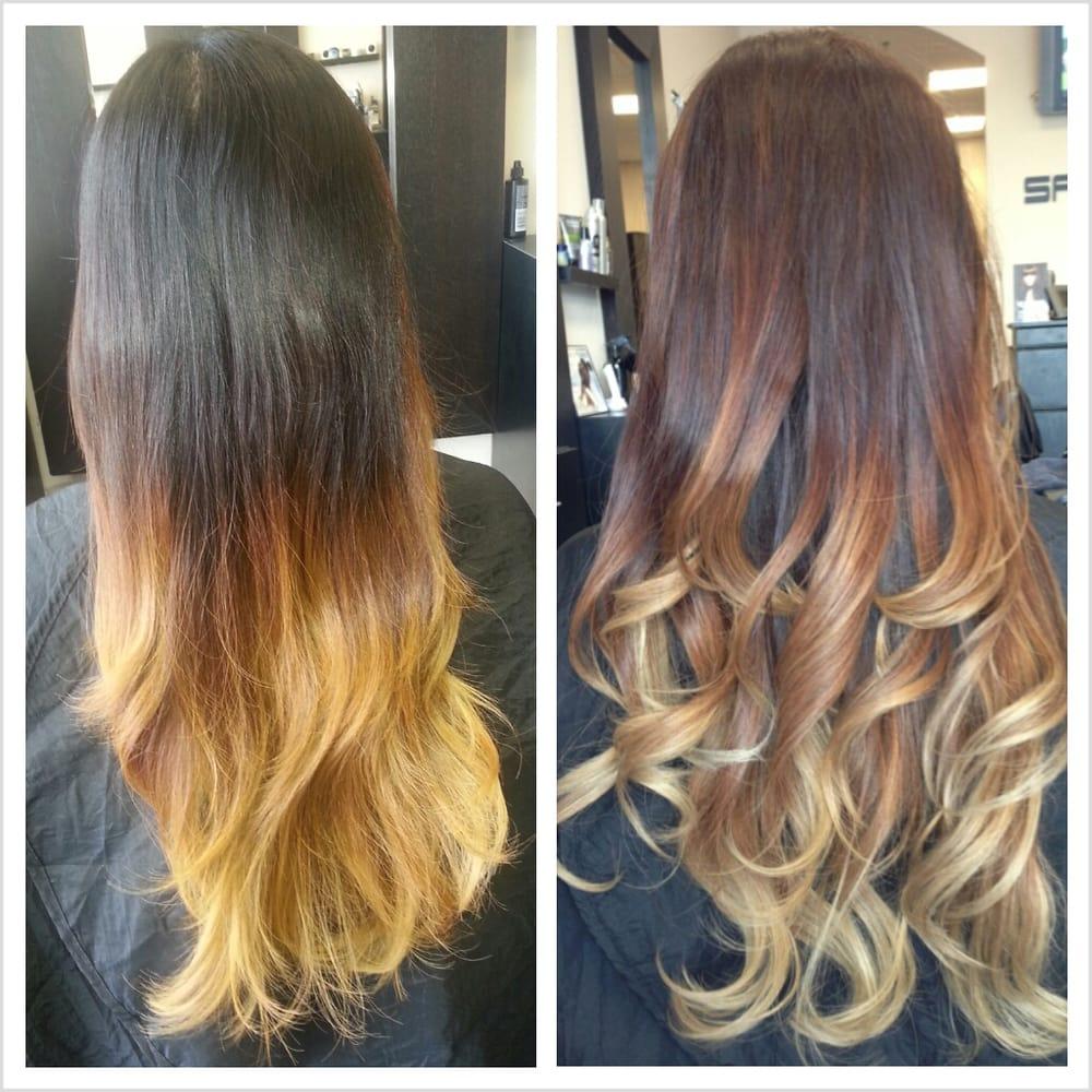 Balayage Highlights Vs Ombre Highlights Pics | Dark Brown Hairs