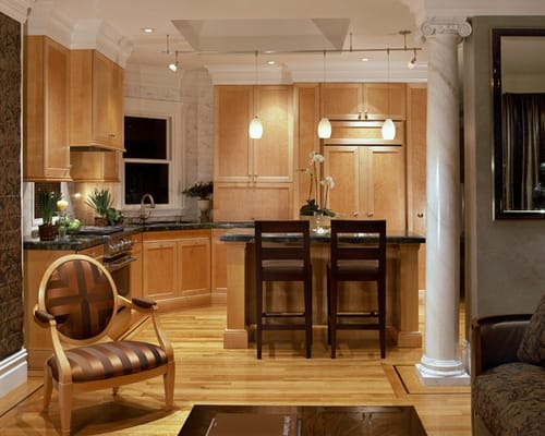 Birdseye maple kitchen mark morris design yelp for Birdseye maple kitchen cabinets