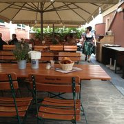 Sizeable roof terrace, with seats in the sun and the shade.