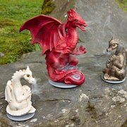 Smoking dragons in a range of colours handmade at The Quarry Pottery