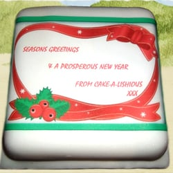 Christmas/Festive Seasonal Celebration Cake