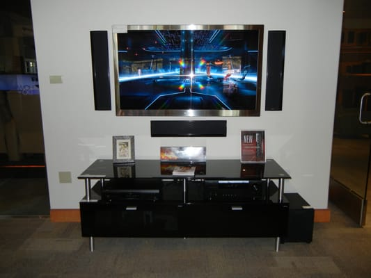 Led Tv On Wall : Led Tv Wall : Speakers with TV Mounted On Wall