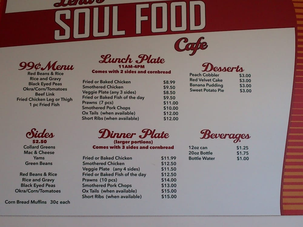 Photos for lena s soul food cafe yelp for Soul fish menu