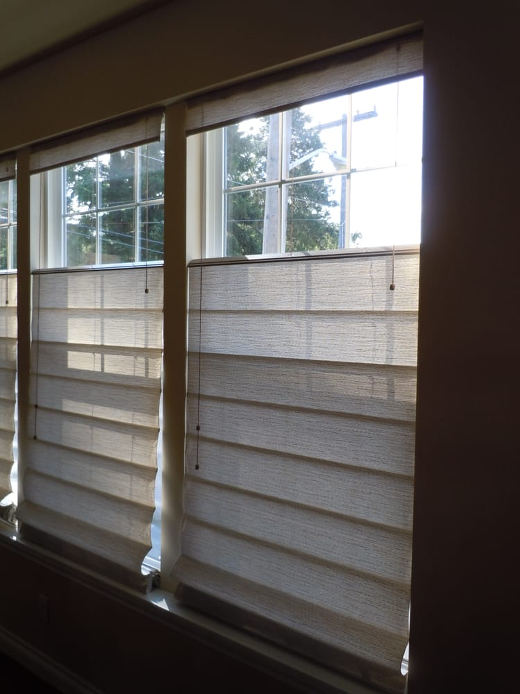 Graber roman shades with top down bottom up yelp for Motorized top down bottom up shades