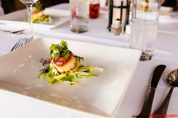 Sear Scallops, Endive and Snow Peas Salad, Butter Braised Leeks | Yelp
