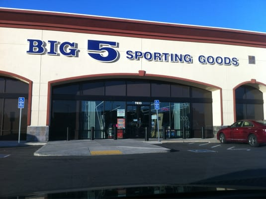 Shop for shoes, clothing and sporting goods at Big 5 Sporting Goods in Prescott Valley and leave with some great items. Drivers will love the easy parking options just steps away from Big 5 Sporting Goods. So get yourself ready for your first big game with some new sporting gear from Big 5 Sporting Goods .
