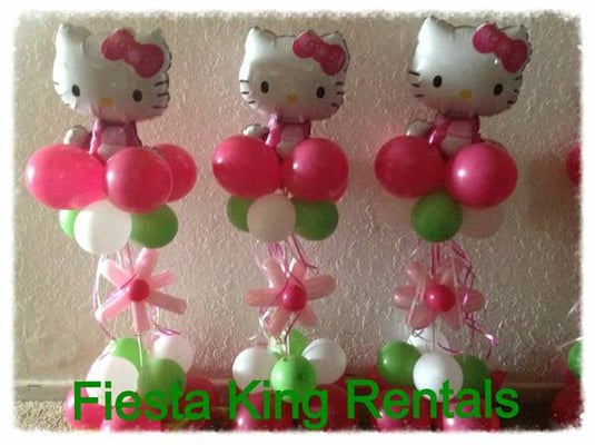 Hello kitty balloon centerpieces and party decoration for Balloon decoration los angeles
