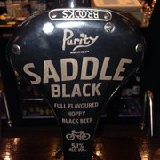 Purity Ale Saddle Black pump clip - a bicycle seat made by Brooks