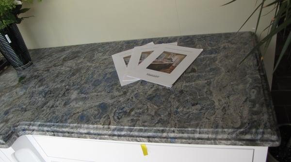 Lapis Eyes Granite Countertops With Cove Ogee Amp Flat Edge