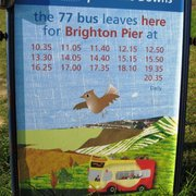 Return bus times from Devil's Dyke for the 77 bus.
