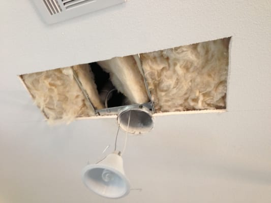 Kitchen ceiling leak from upstairs bathroom drain not for Leak in upstairs bathroom