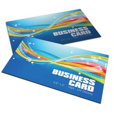 Premium Business Cards 16pt UV Matte Silk Finish in