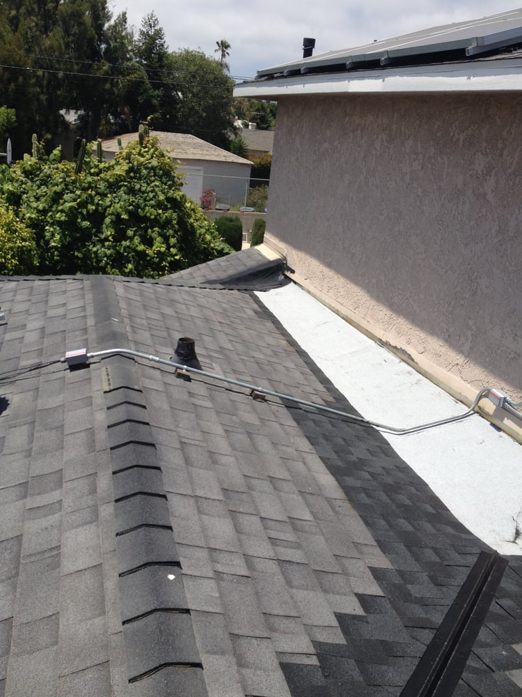 Torch down built in water run off gutter put in to stop for Leaking roof gutter