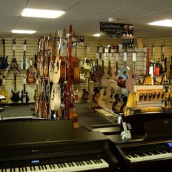 A really easy going music shop where you can try what you're buying