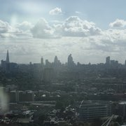 View of the London Skyline - the City and The Shard - from The Orbit