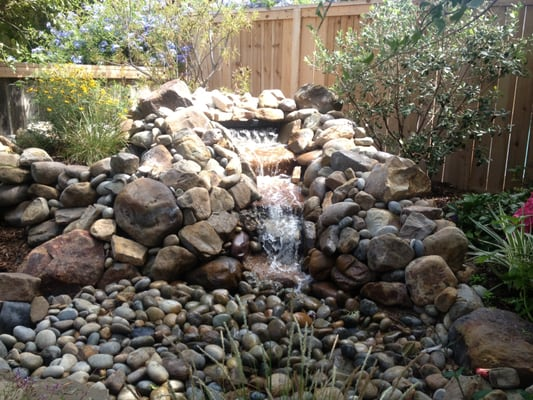 natural rock pondless waterfall