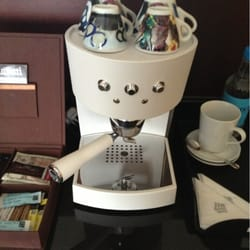 In-suite espresso machine