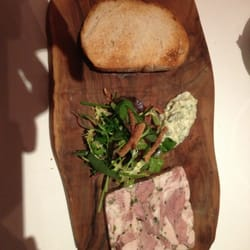 "Brawn terrine on price fix menu (""entree"" which comes before main course) at Galvin Bistro"