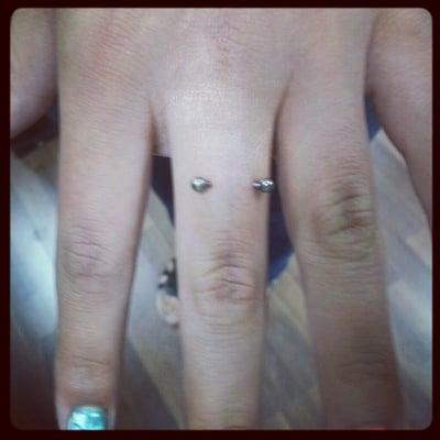finger surface piercings