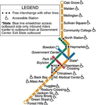 Gallery For Gt Mbta Map Orange Line