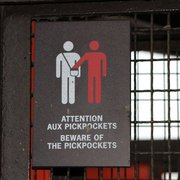 Beware of pickpockets (or red people)