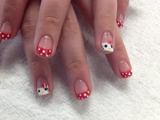 Shellac with hand painted nail designs | Yelp
