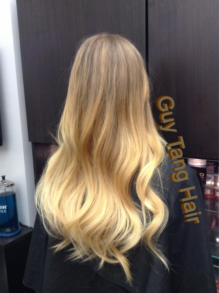blonde sun kiss balayage ombr by guy tang yelp. Black Bedroom Furniture Sets. Home Design Ideas