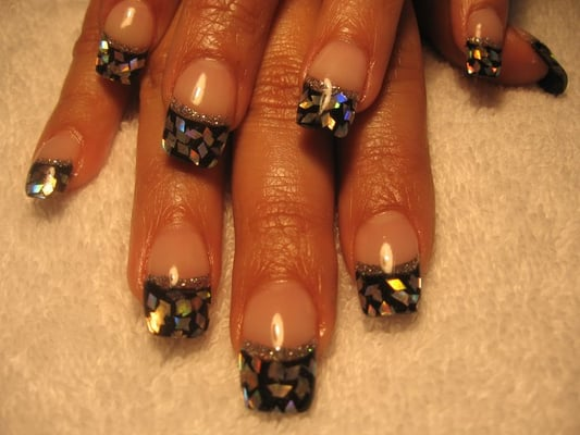Black Acrylic Las Vegas Nails