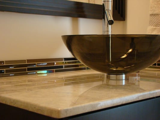 henna fusion glass tile bathroom backsplash installation yelp