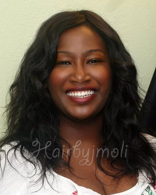 ... -No closure piece)- San Diego. With Virgin Indian Hair Extensions