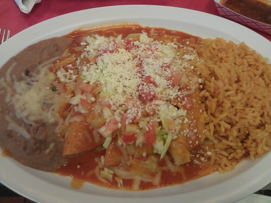 Enchiladas With Rice And Beans Chicken Enchiladas wit...