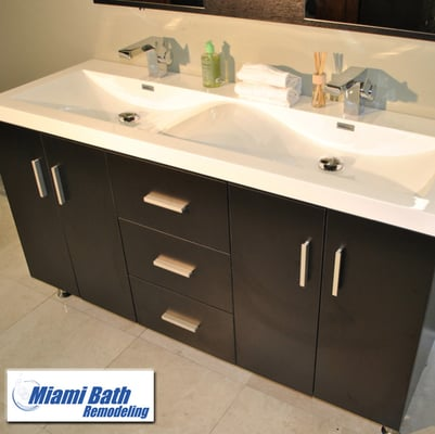 Bathroom vanities at miami bath remodeling yelp for Bathroom cabinets yelp