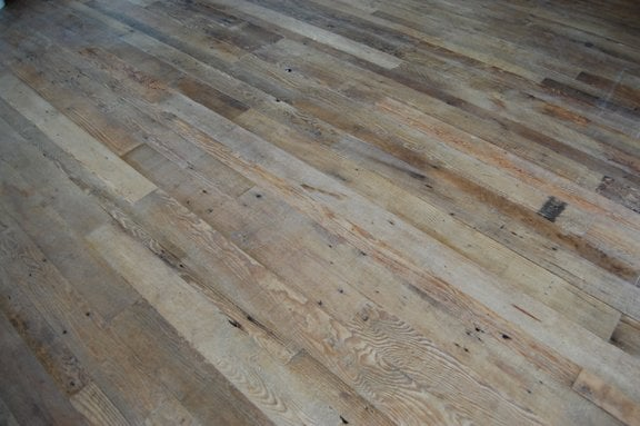 Reclaimed rough face douglas fir flooring bleached yelp for Reclaimed douglas fir flooring