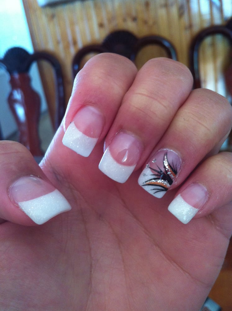 Nail designs using white tips definitely the most common service white tip nails makeup view images prinsesfo Images