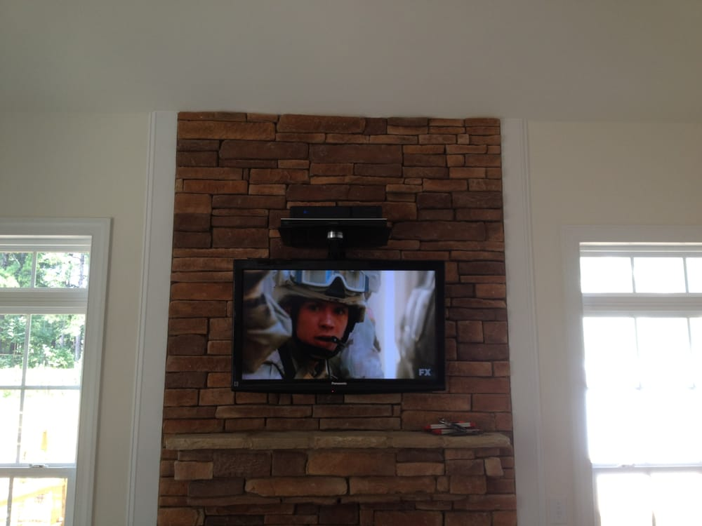 We Specialize In Fireplace Tv Wall Mounting Brick Stone Wood And Drywall For Businesses