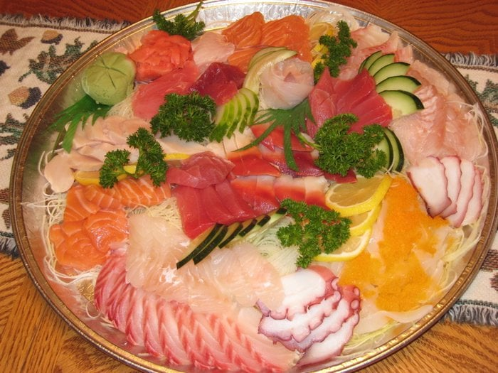 Sashimi platter 50 yelp for Lawrence fish market menu