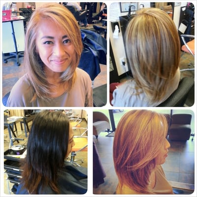 ... blonde ; full head highlights and color on majority virgin hair. By