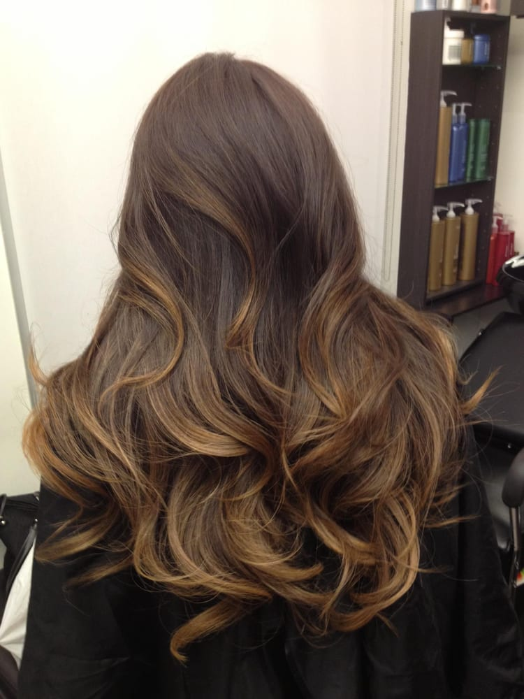 ... virgin Dark Black Brown hair to this ombre ash brown color. :) | Yelp