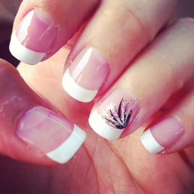 French manicure with awesome nail art by Tina :D | Yelp