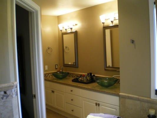 Bath remodel countertop glass vessel sinks yelp for Bathroom remodel yelp