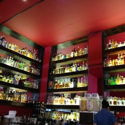 View of Bar with extensive selection of Tequila.