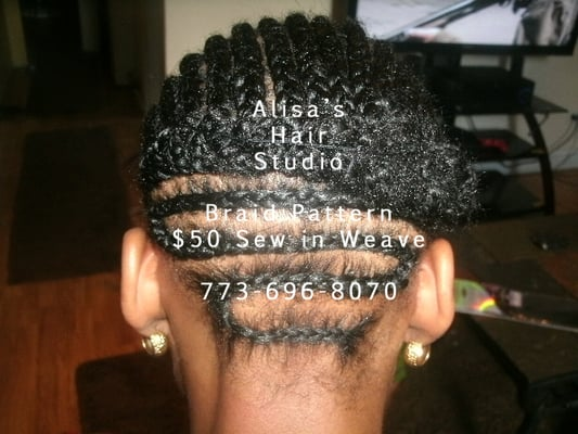 Sew in Weave Braiding Patterns http://www.yelp.com/biz_photos/alisas-hair-studio-chicago?select=CE_cSfhhQXk0mqlIVdtrng