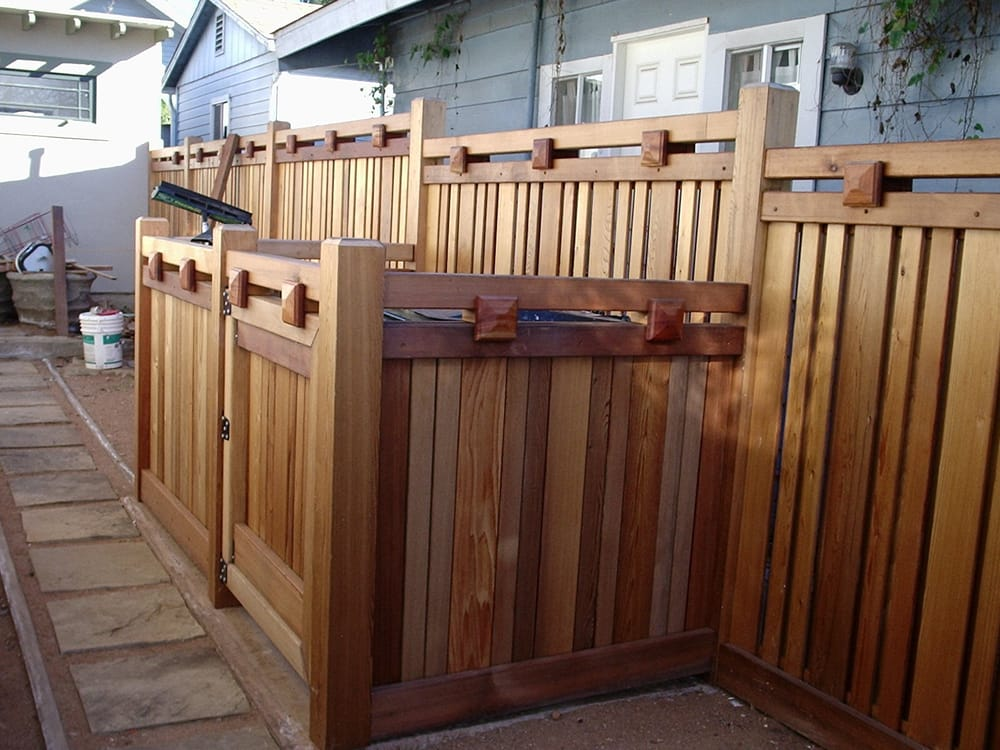 Craftsman fence dumpster enclosure yelp for Craftsman style fence