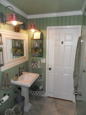 Complete Remodel Of Master Bathroom Use Of T 111 Siding