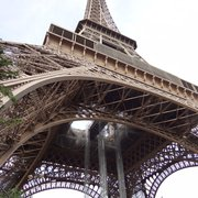 First glimpse of the Eiffel, makes you feel very small.
