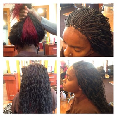 Wet-n-Wavy human hair Micro Braids done in 4.5 hours | Yelp