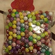 Lovely sparkle beads for mala beads and mala bracelets thanks to Covent Garden Bead shop!