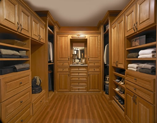 A Master Closet Design With Plenty Of Storage Yelp
